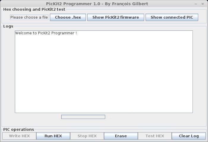 PICkit2 GUI (Linux OS)