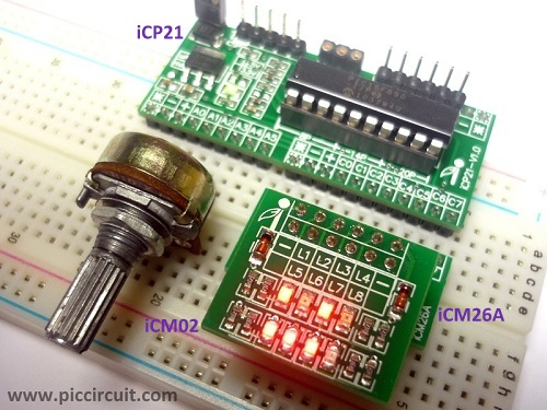 Tutorial 18C - iCP21 ADC Demo (PIC16F690)