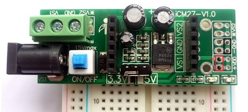 iCM27 with breadboard