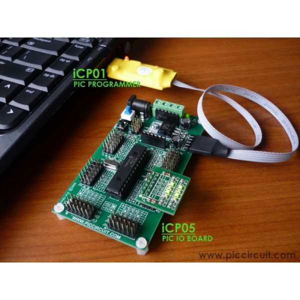 iCA01 USB Microchip PIC Programmer Set with Adapter