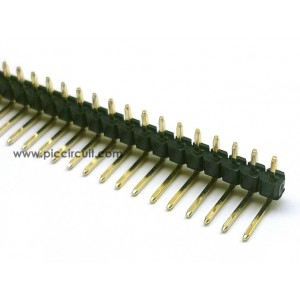 Pin Header (2.54mm, Right Angle, 1x40 Way, A:3mm)