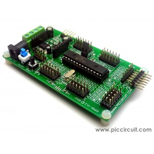 iCP05 - iBoard Lite (Microchip 28-pin PIC16 & PIC18 Development Board)