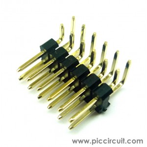 Pin Header (2.54mm, Right Angle, 2x6 Way, A:6mm)