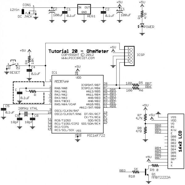 Simple Ohmmeter Circuit Diagram Of Separate : Ohmmeter august