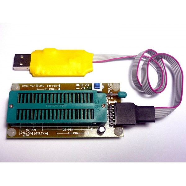 iCP02 USB Microchip PIC Programmer 3 3V 5 0V with ICSP