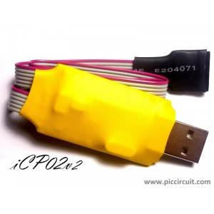iCP02 - USB Microchip PIC Programmer (3.3V/5.0V, with ICSP & PICkit 2 SW)