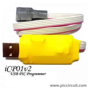iCP01 - USB Microchip PIC Programmer (with ICSP & PICkit 2 SW)