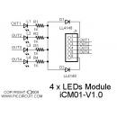 iCM01 - 4 x LEDs Module Schematic