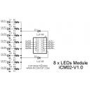 iCM02 - 8 x LEDs Module Schematic