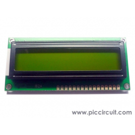 2x16 LCD Display (Yellow Backlight)