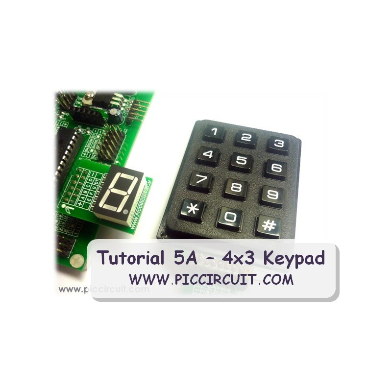 Tutorial 5A - 4x3 Keypad Demo (Free)