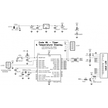Code 01 - Timer & Temperature Display Schematic