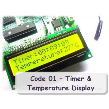 Code 01 - Timer & Temperature Display