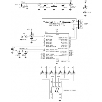 Tutorial 4 - 7 Segment Demo Schematic