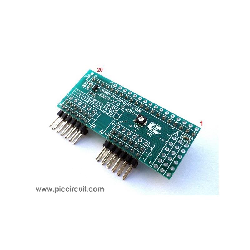 iCM19B - External LCD Port (64x128 GLCD)