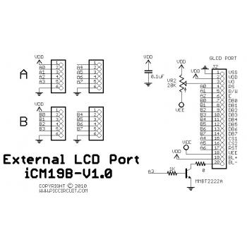 iCM19B - External LCD Port Schematic