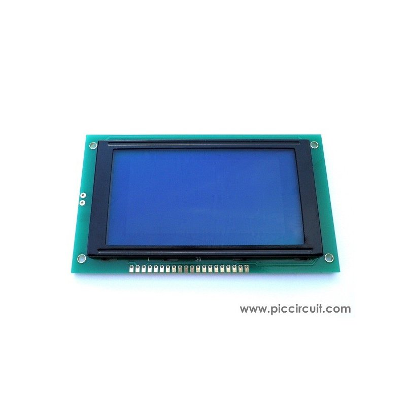 64x128 Graphic LCD Display (Blue Backlight)
