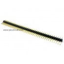 Pin Header (2.54mm, Straight, 1x40 Way, A:6mm)