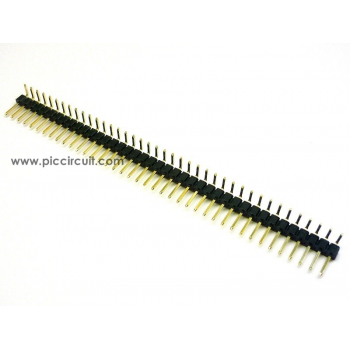 Pin Header (2.54mm, Right Angle, 1x40 Way, A:6mm)