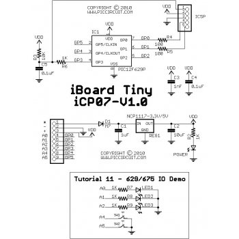 Tutorial 11 - 629/675 IO Demo Schematic
