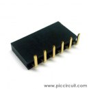 Pin Socket (2.54mm, Right Angle, 1x6 Way)
