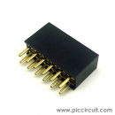 Pin Socket (2.54mm, Straight, 2x6 Way)