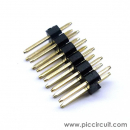 Pin Header (2.54mm, Straight, 2x6 Way, A:6mm)