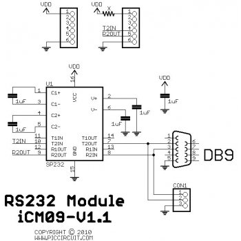 iCM09 - RS232 Module Schematic