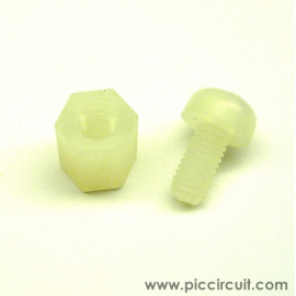 Plastic Screw & Spacer (Spacer L:6mm)