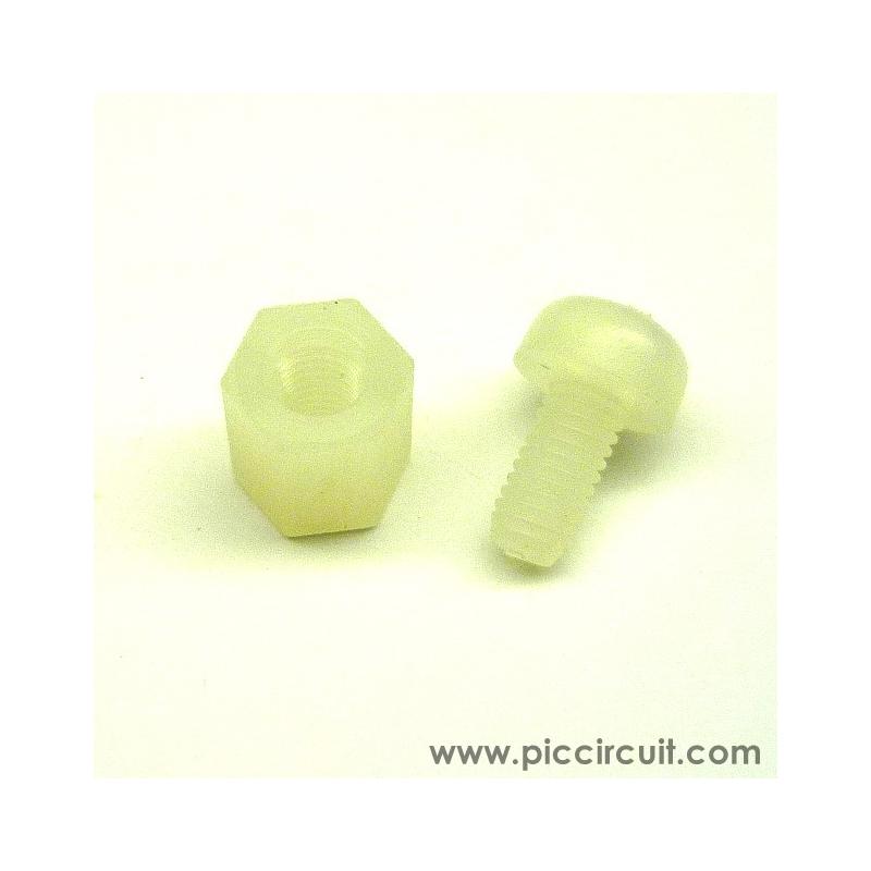 Plastic Screw & Spacer (Spacer L:6mm)
