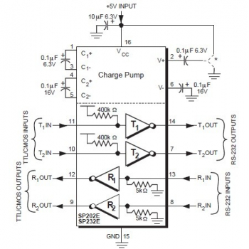 SP232EEP Wiring Diagram