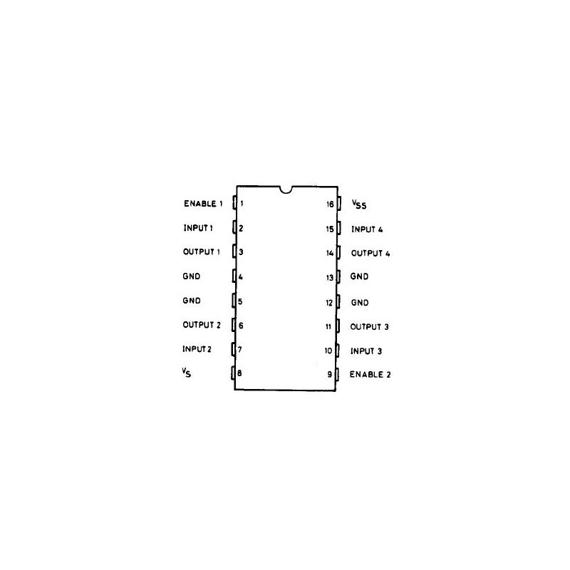 L293D (Quadruple Half-H Drivers, PDIP-16)