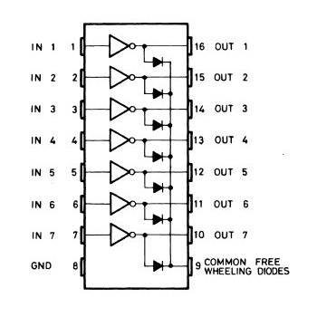 ULN2003A (7x Darlington Array, PDIP-16)