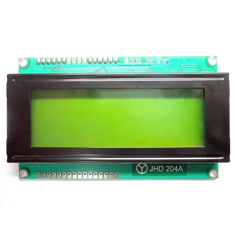 4x20 LCD Display (Yellow Backlight)