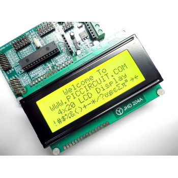 4x20 LCD Display (Yellow Backlight) with iBoard
