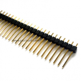 Pin Header (2.54mm, Straight, 1x40 Way, A:11mm)