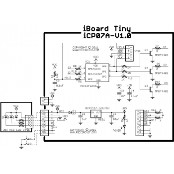 Tutorial 15A - iCP07A Demo (30x RGB LED Strip) Schematic