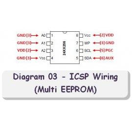 Diagram 03 - ICSP Wiring (Multi EEPROM)
