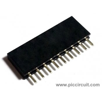 Pin Socket (2.54mm, Straight, 1x9 Way)