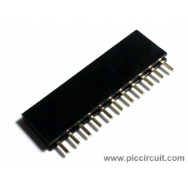 Pin Socket (2.54mm, Straight, 1x11 Way)