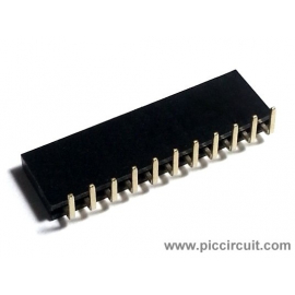 Pin Socket (2.54mm, Right Angle, 1x11 Way)