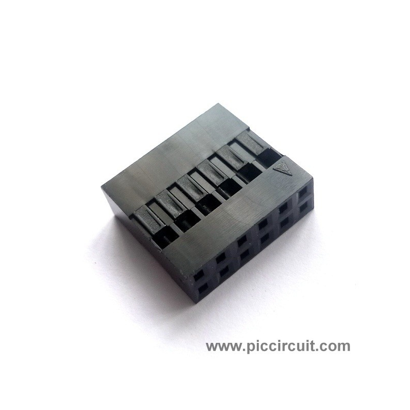 Pin Housing (2.54mm, 2x6 Way)