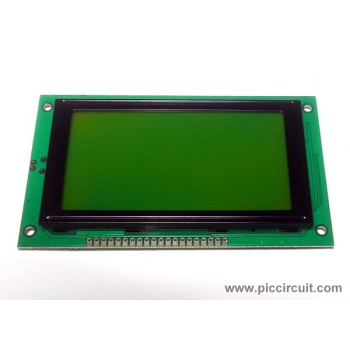 128x64 Graphic LCD Display (Yellow Backlight)