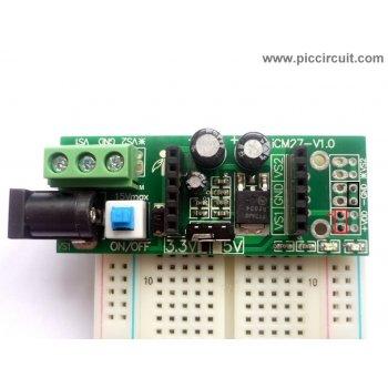 iCM27 - Power Supply Module (3.3V & 5.0V) with breadboard