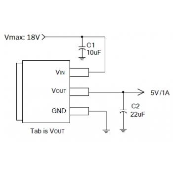 AP1117E50G-13 (5V/1A Low Dropout Positive Regulator, SOT-223)