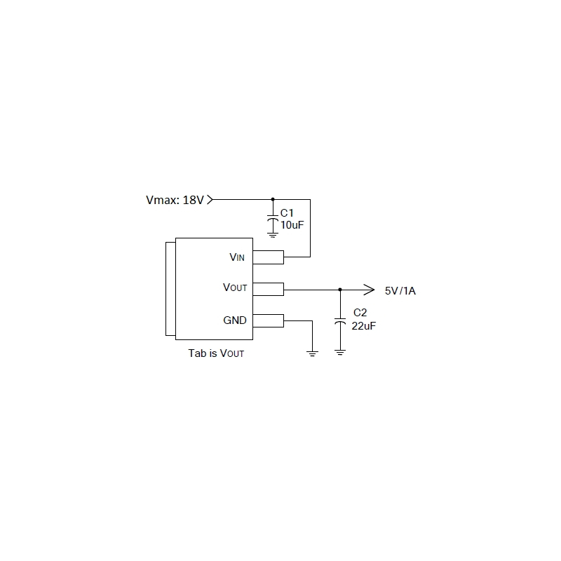 AP1117E50G-13 (5V/1A Low Dropout Positive Regulator, SOT-223)